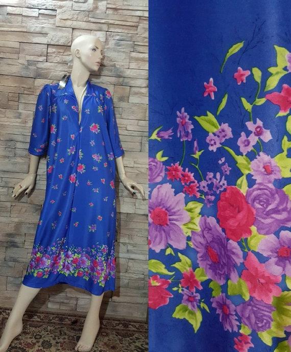 Vanity Fair floral robe/1980s unworn