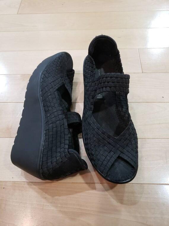 Black Steven Madden Platform Mary Janes shoes