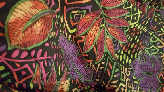 Psychedelic Silk Blouse - image 7