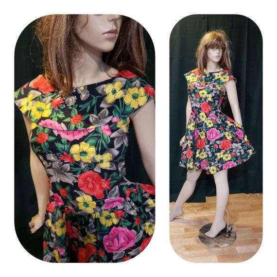 Cotton Floral Summer Dress