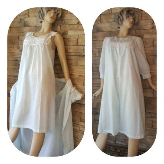 Vintage Nightgown Set/Baby Blue