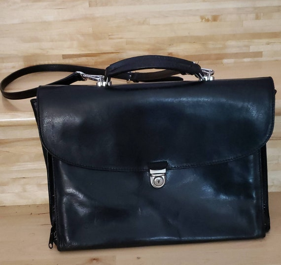 Black leather briefcase/laptop bag Shoulder bag