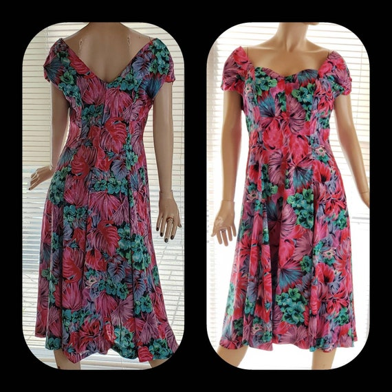 Silk Floral Summer Dress