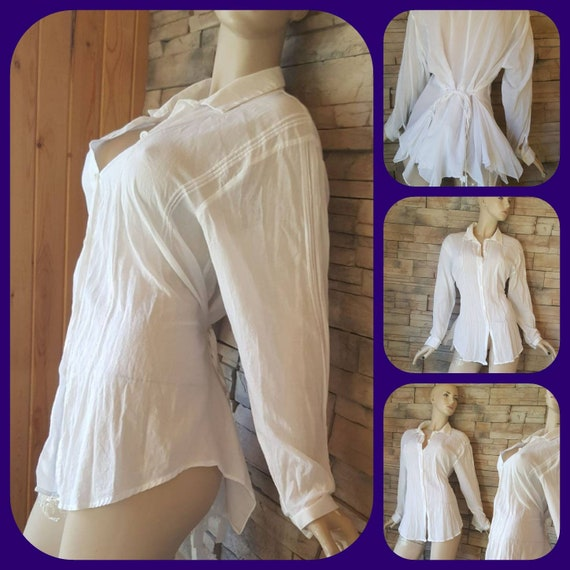 Long off white Cotton blouse