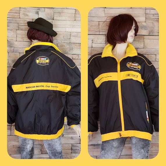 NASCAR bomber jacket/ black & yellow