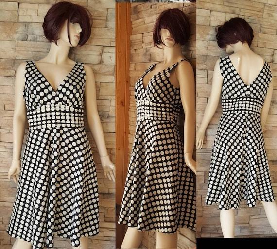 White black Polka dot summer dress/pin up/60s