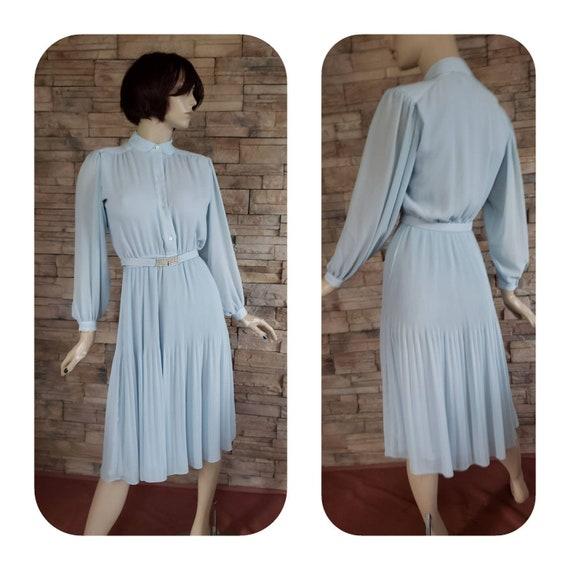 pale blue chiffon  Dress