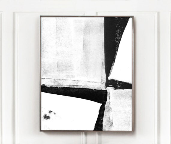 Black And White Digital Abstract Art