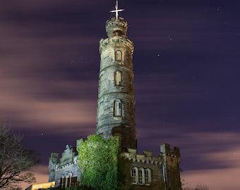 Nelson Monument Illuminated