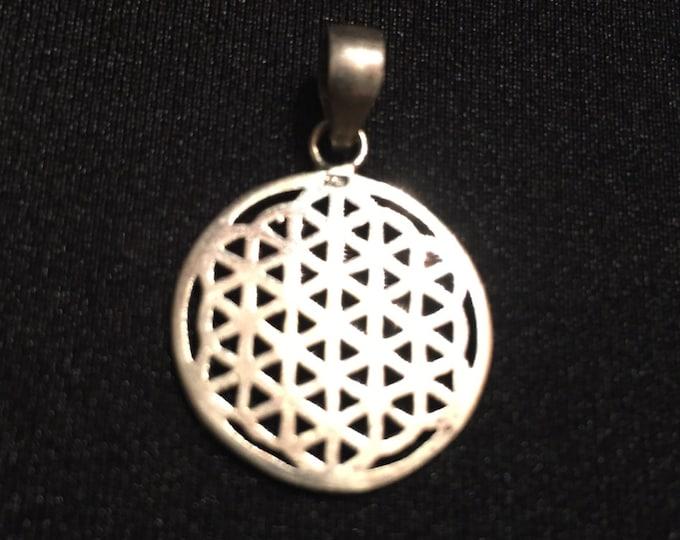 Mandala - flower of life - sterling silver pendant - spiritual jewelry