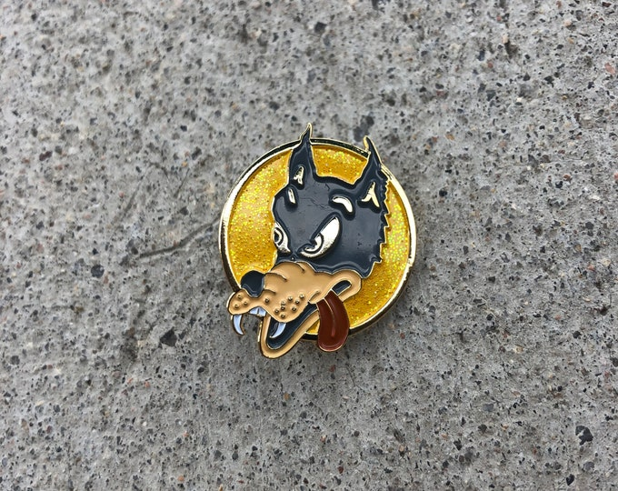 Jerry Garcia wolf pin