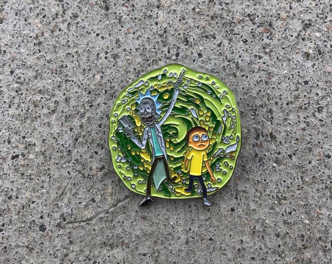 Rick and morty pin