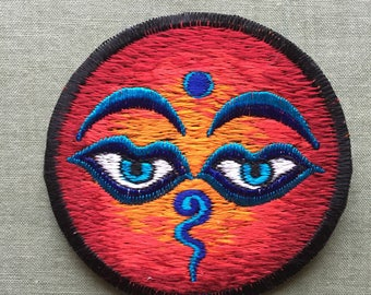 3 inch Buddha eyes patch
