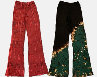Yoga flare pant with draw string.