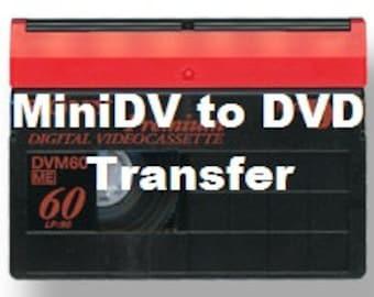 MiniDV transfer to DVD service