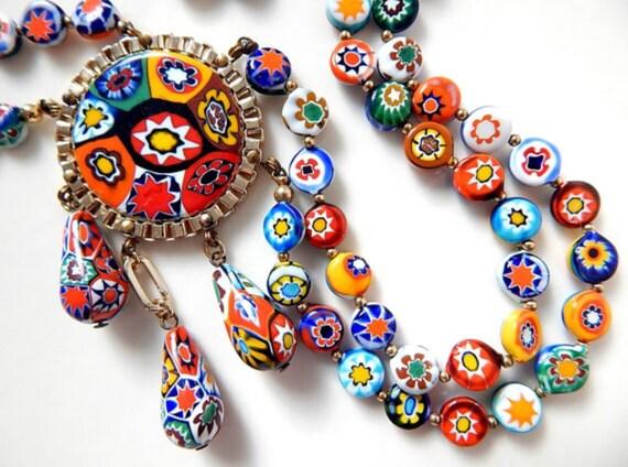 Millefiori Festoon Necklace