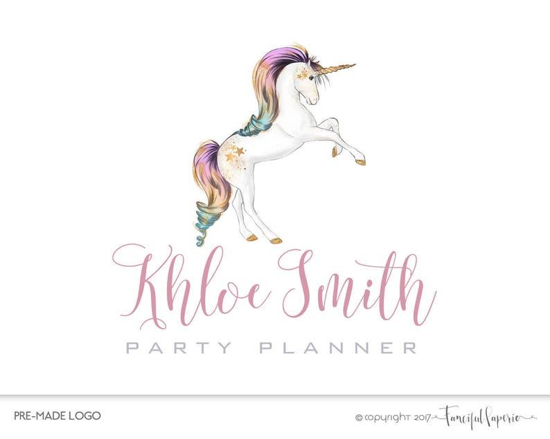 Premade Event Planner Logo, Party Planner Logo, Unicorn Logo, Kids Party  Planner Logo, Birthday Party Planner Logo, Party Planning Logo