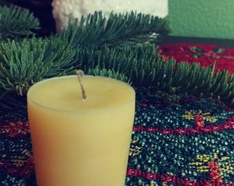 RESERVED SPECIAL ORDER 12 Organic Beeswax Votive Candles Uncented