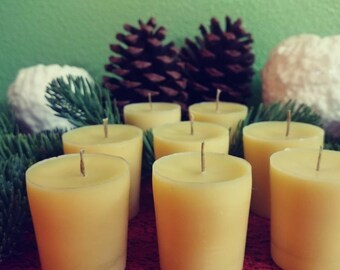 Organic Beeswax Scented Votive Candles Lovely Essential Oil Blend