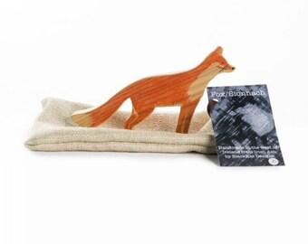 Fox Wooden Figurine - Handmade Irish