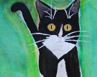 CUSTOM Cat Watercolor