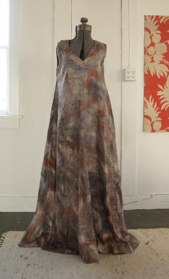 vintage 1960's couture silk dress