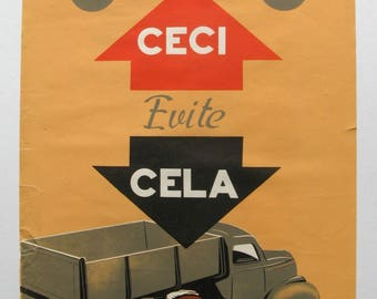 vintage French safety poster