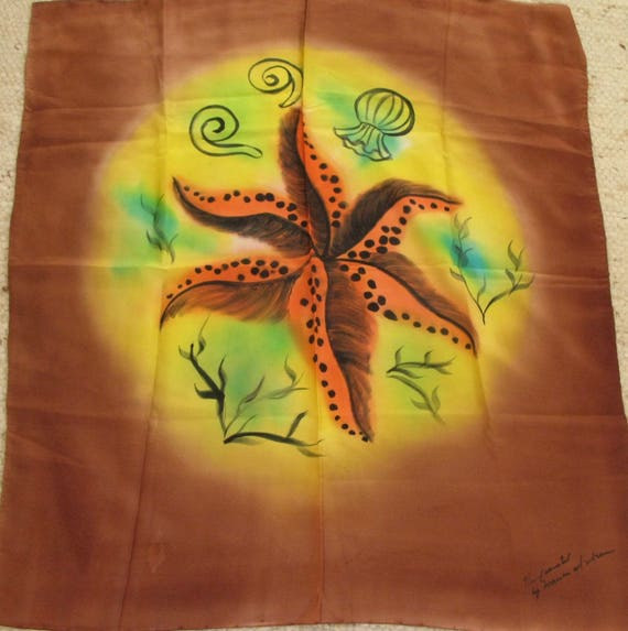 vintage 1940's hand-painted silk scarf - image 3