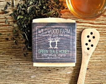 Green Tea & Honey Goat Milk Soap - Handcrafted Natural Soap