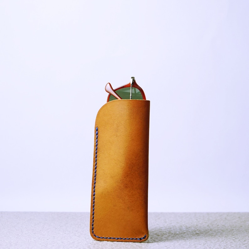 Eyewear Protection Case, Leather Glasses Pouch, Leather Reading Eye Glass Cases, Glasses Sleeve, Slim Leather Glasses Case