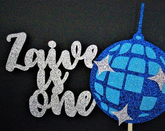 Personalised Disco Ball Cake Topper