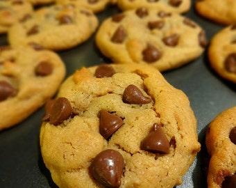 Peanut Butter Milk Chocolate Chip Cookies