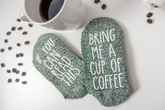 Coffee Socks If You Can Read This SocksChristmas Gift For