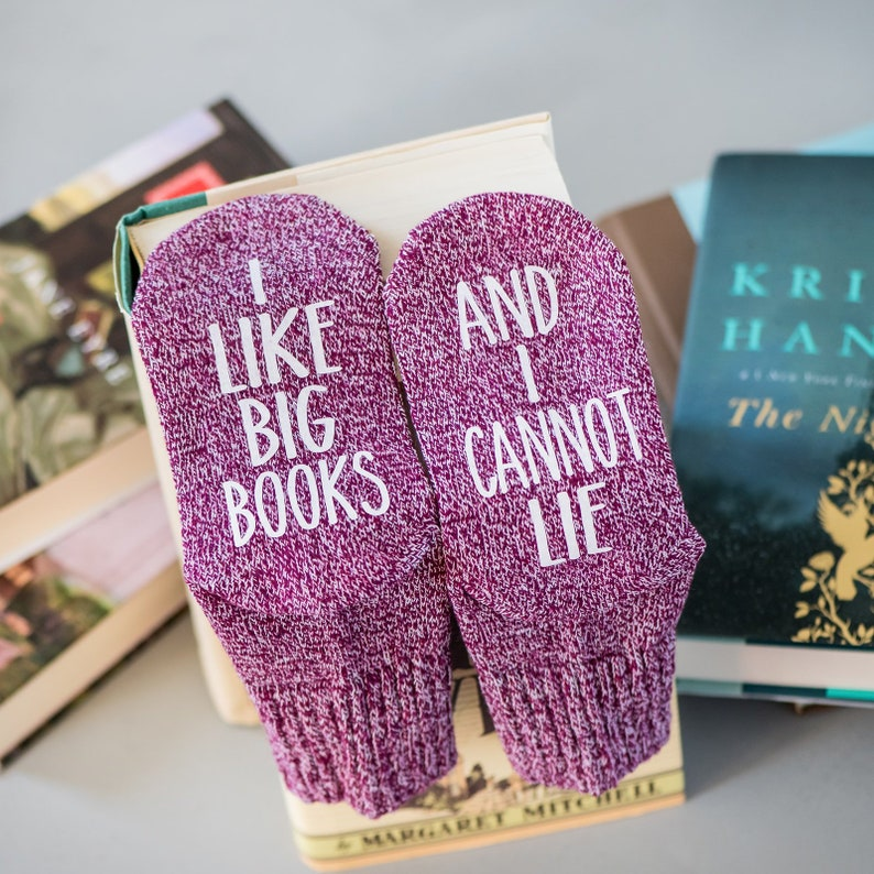 Book Socks. I like big books and I cannot lie. Birthday Gift image 0