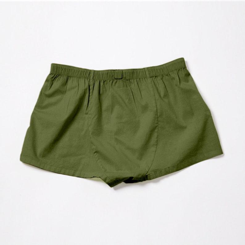 YUASA Mens Short Boxers Olive