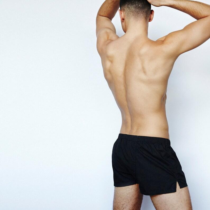 Mens Short Boxer Underwear Black