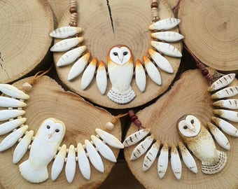 Totem Owl Necklace (made to order)