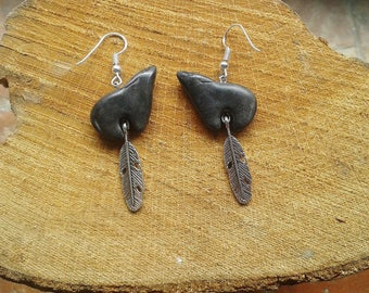 Totem Wolf Earrings (made to order)