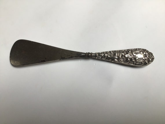 Silver Shoes Edwardian Sterling Shoe Horn Antique Accessories Foster and Bailey Novelty US Made Rhode Island Company F /& B