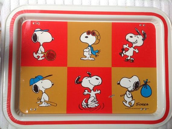Partecipazioni Matrimonio Kitsch.Snoopy 1960 S Metal Tv Dinner Table Tray Kitsch Etsy