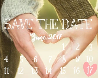 Digital Download - Cute Calendar Save the Date
