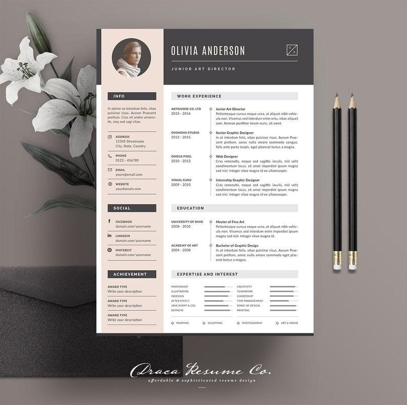 4f4ff02a5da Professional Resume Template Modern CV Template Creative