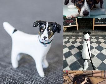 Personalized pet miniature portrait, animal totem miniature dog miniature cat miniature personalized clay pet sculpture clay totem miniature