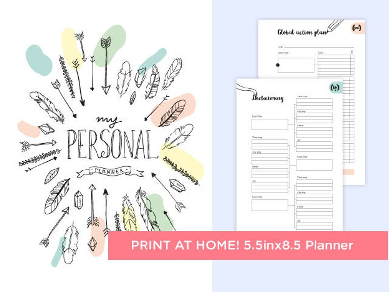 photograph regarding Printable Life Planner named Printable daily life planner, 5.5x8.inside of, Bullet magazine, Bujo, Printable organizer, evening meal planner, printable day-to-day planner, printable purpose planner