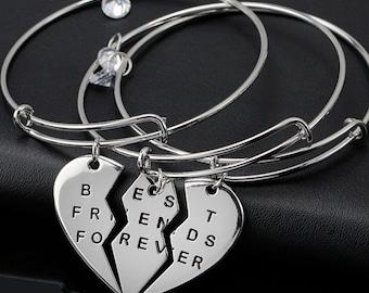 Best Friends Forever Bangle Bracelet, Best Friends