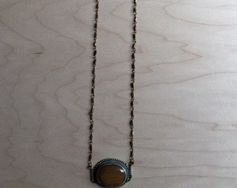 Handmade Necklace with Re-purposed Stone