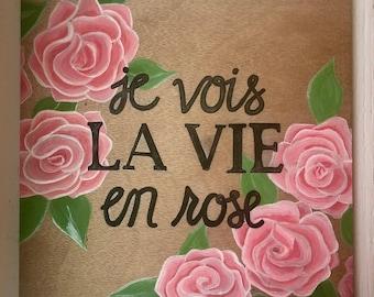 La Vie En Rose Wall Art