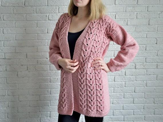 Crochet Pattern Cardigan Pattern Sweater Pattern Oversized Etsy
