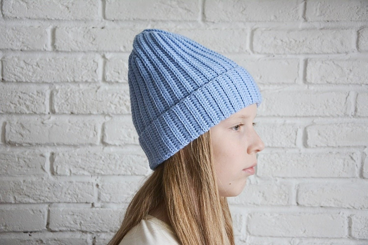 Crochet Hat Pattern Slouchy Beanie Hat For Toddler Child Etsy