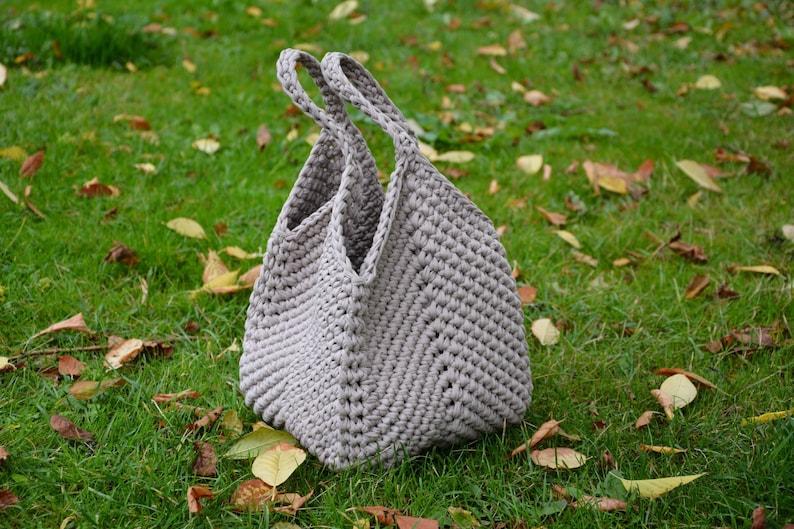 CROCHET BAG PATTERN Market Hobo Bag Pattern Handbag Pattern image 1